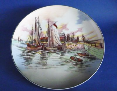 Superb Vintage Royal Doulton 'Home Waters' Series Ware Chop Dish or Charger D6434 c1955